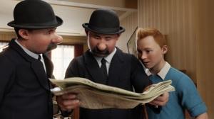 Inspectores Hernández y Fernández con Tintin